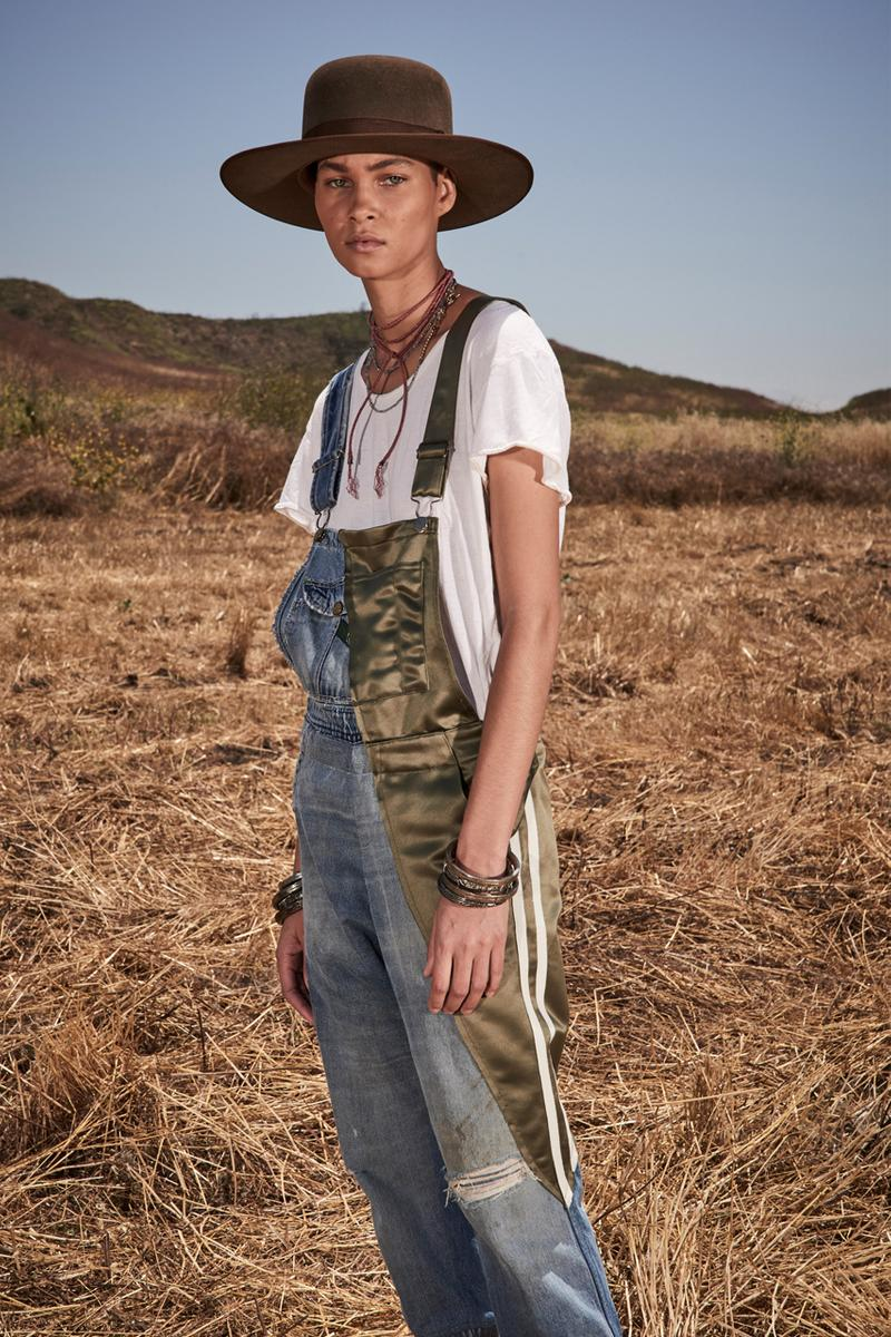 greg lauren spring summer 2020 collection lookbook release overalls accessories Ponchos Brimmed Hats Pants Shirts Jackets Green Tan Orange Black Silver Red Brown White ss20