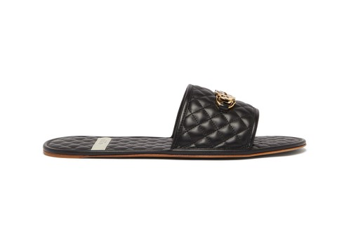Gucci Releases Luxurious GG-Plaque Quilted Leather Slides