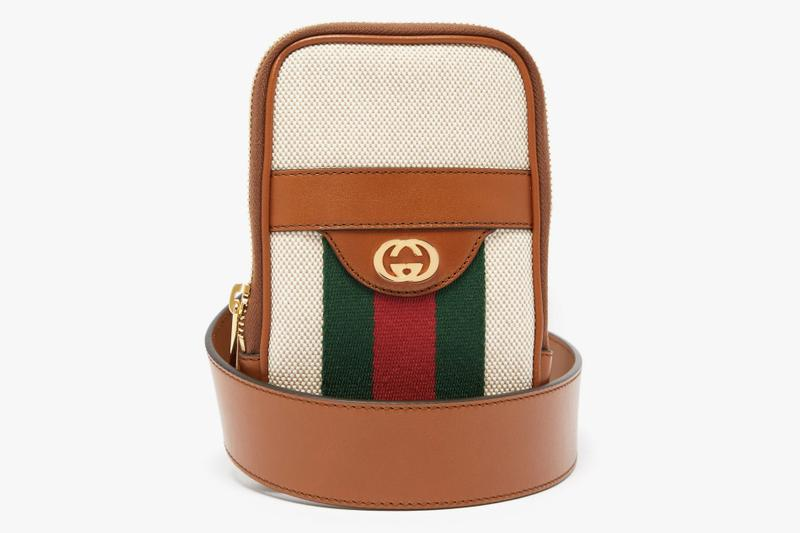 Gucci GG Vintage-Canvas Belted iPhone Case Release Green Red Brown