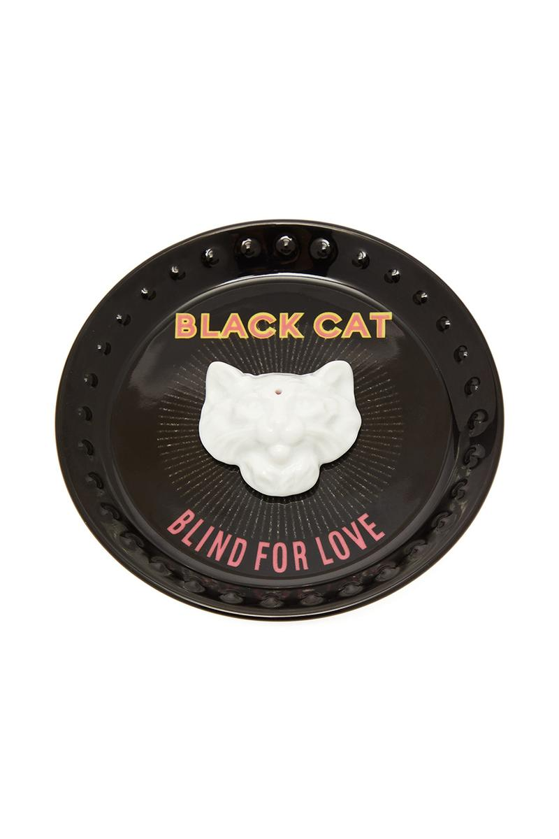 2f7ba406b Gucci Incense Holder Richard Ginori Porcelain Chamber Black Cat Blind For  Love Alessandro Michele Cat Head