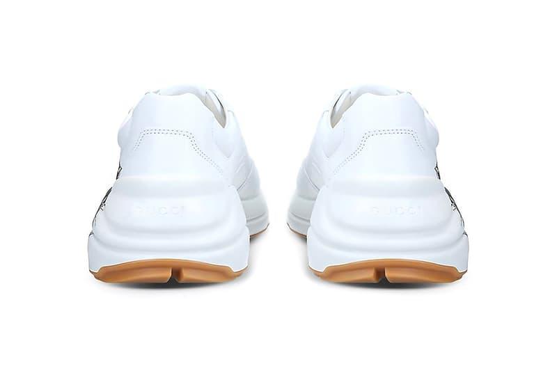 Gucci Rhyton Triple Tiger Print Sneaker Release kicks footwear trainers Italian fashion