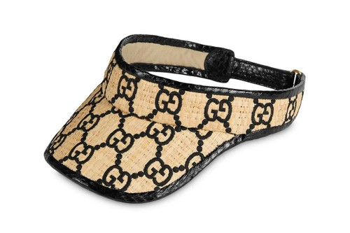 Survive the Summer Heat With Gucci's Snakeskin Raffia GG Visor