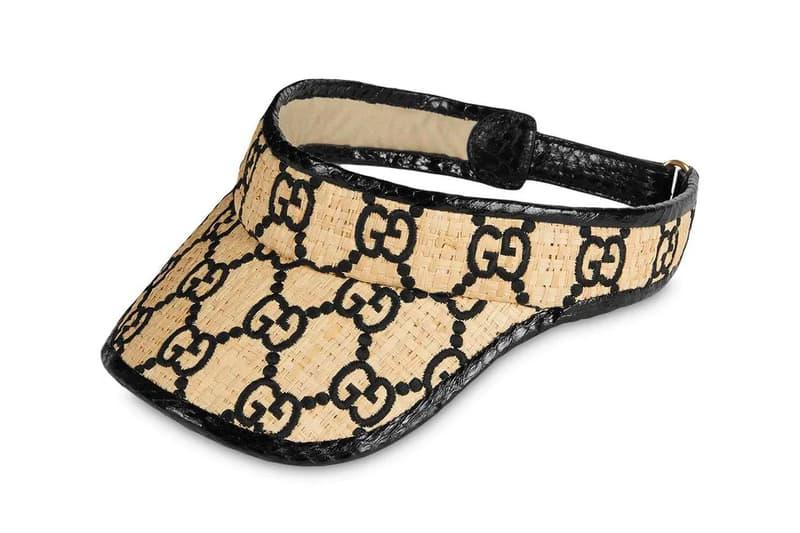 Gucci Snakeskin Raffia GG Visor Release Info Buy Red Black woven raffia
