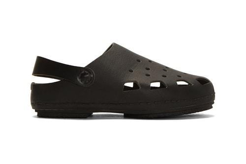 """Hender Scheme Crafts """"Crocs""""-Inspired Leather Sandals"""