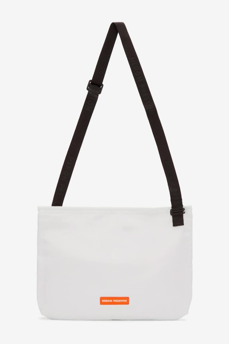 Heron Preston New Bag Accessories Release SSENSE Online Retail Style Camera Bags bum bags messenger bags fanny packs