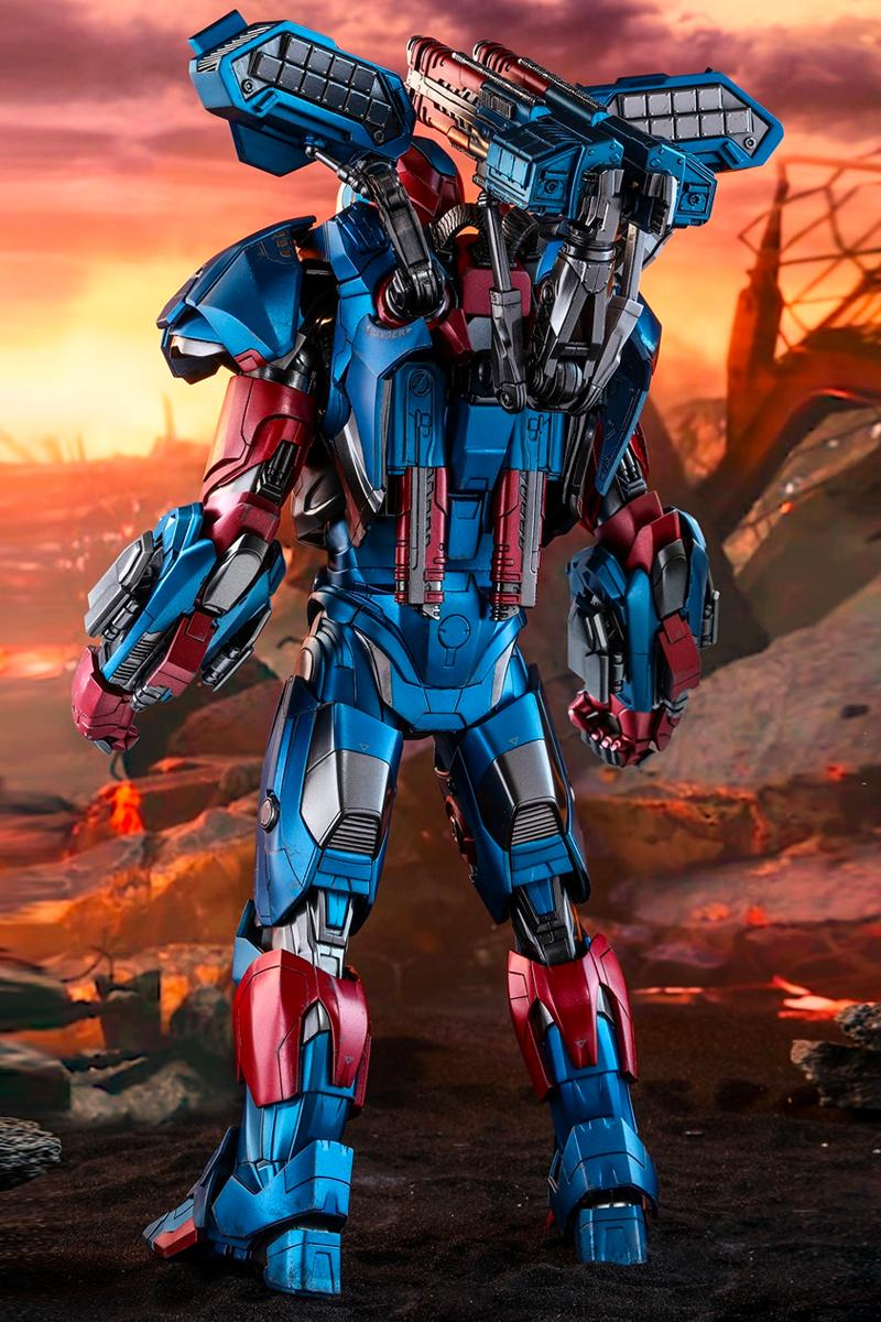 Hot Toys Avengers Endgame Iron Patriot Marvel Studios cinematic universe iron man war machine 1 6th model
