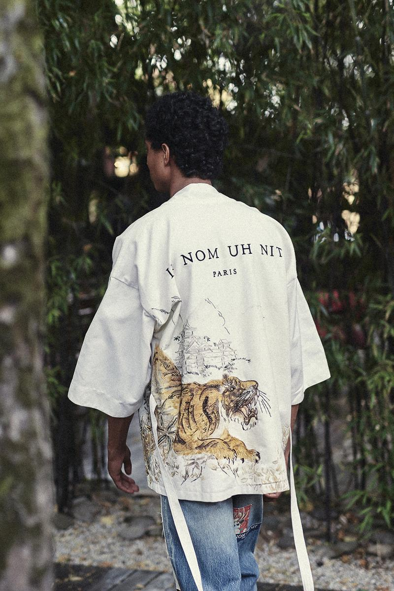 ih nom uh nit Spring/Summer 2020 Lookbook Collection SS20 'Stranger Things' T-Shirts Eleven Millie Bobbie Brown Asian Influences Kimonos Robes Kanji Graphics Blossom