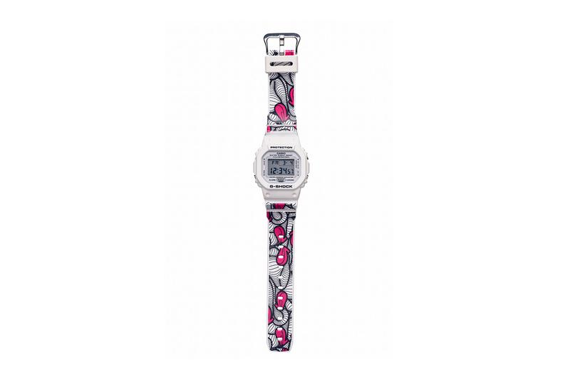 INSA x Casio G-Shock DW-5600MW-7INSA Watch Timepiece Collaboration Protection Water Resistance Illuminator White Pink Black Floral Pattern Design G-CREATIVE Campaign First Look Graffiti Fetish Anniversary 15 Years
