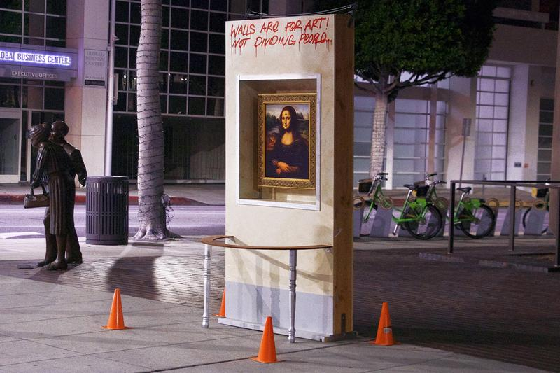 Artist Isaac Pelayo Erects 'Mona Lisa' Wall Across Gagosian Beverly Hills