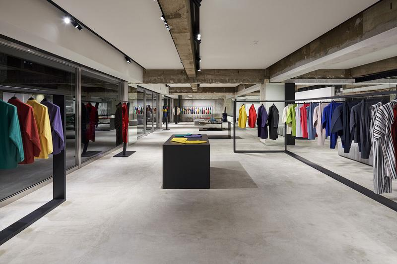 Homme Plissé Issey Miyake Flagship in Aoyama tokyo japan open launch inside collection look