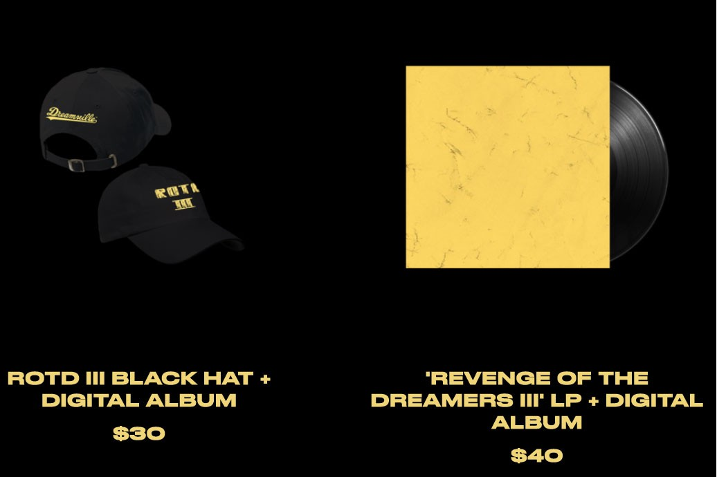 'Revenge of the Dreamers 3' Limited-Edition Merch j cole dreamville