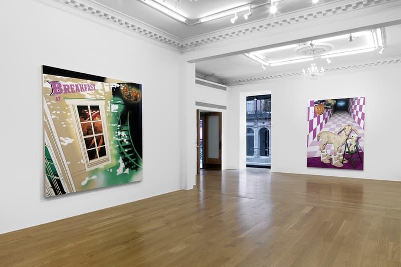 "Jamian Juliano-Villani ""Let's Kill Nicole"" Massimo De Carlo London Art Exhibition Amy Winehouse Ovartaci Marni Hyper Real Irrational Behavior Look Inside"