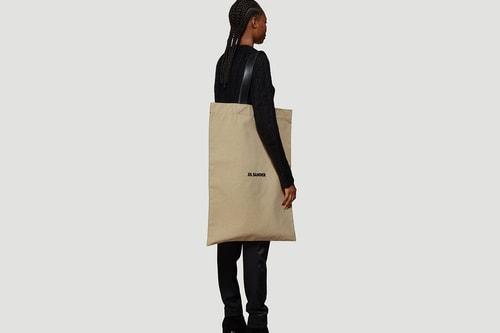 Jil Sander Releases Oversized Flat Canvas Tote Bag