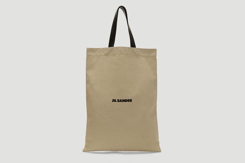 Jil Sanders Flat Canvas Tote Bag in Beige release where to buy price 2019