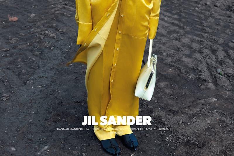 Jil Sander Fall Winter 2019 Advertising Campaign Lucie Meier Luke Meier Creative Directors Photographer Nigel Shafran Scotland Arbroath Loch Earn