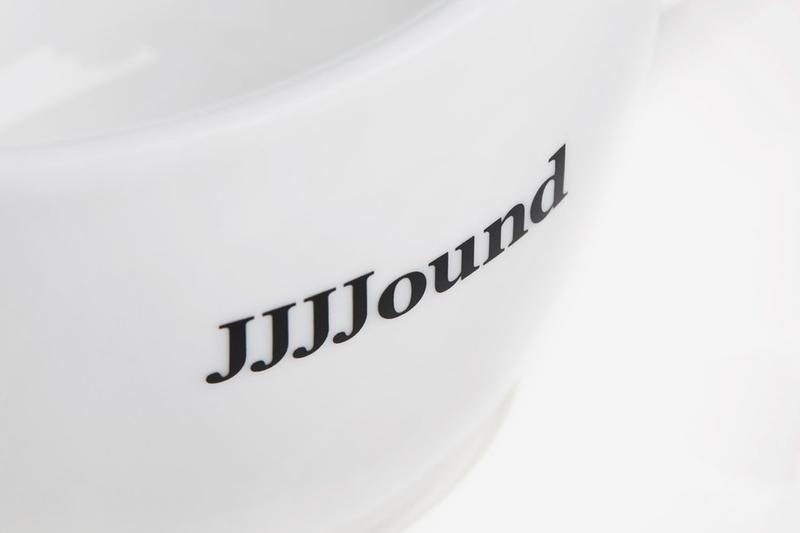 JJJJound Acme Cup With Logo Release Info Home decor kitchenware coffee drop date buy now porcelain saucer
