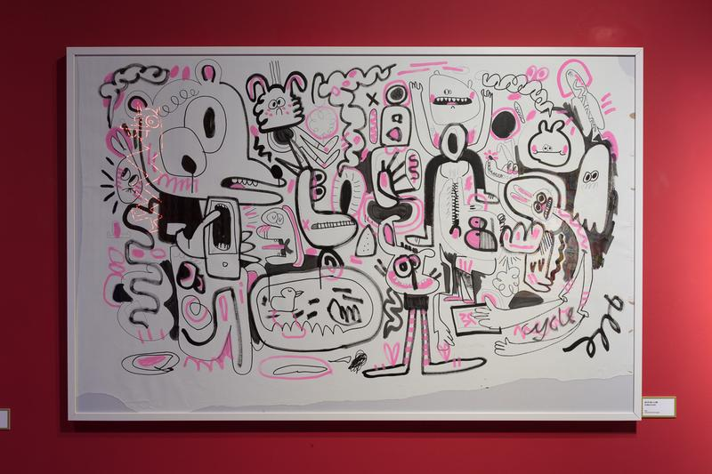 jon burgerman fun factory m contemporary seoul south korea drawings illustrations installations artworks