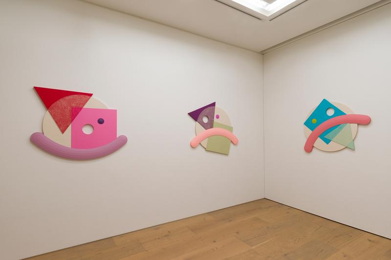Josh Sperling Perrotin Tokyo Squiggles Composites Sculpture Installation Blue Red Green Purple Yellow Pink Brown Black