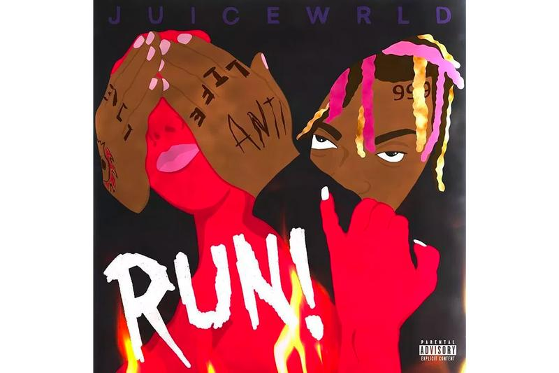 "Juice WRLD ""RUN"" Single Stream listen now soundcloud melodic hip-hop rap surprise track song death race for love"