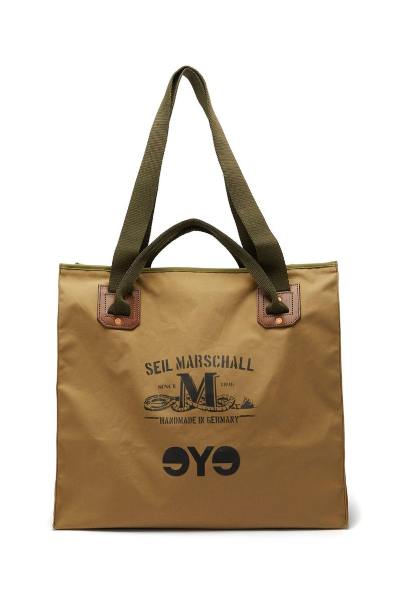 Junya Watanabe MAN  Seil Marschall tote bags wool cotton canvas fall winter 2019 eye logo