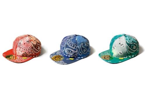 KAPITAL Drops Bandana-Printed Patchwork Baseball Caps