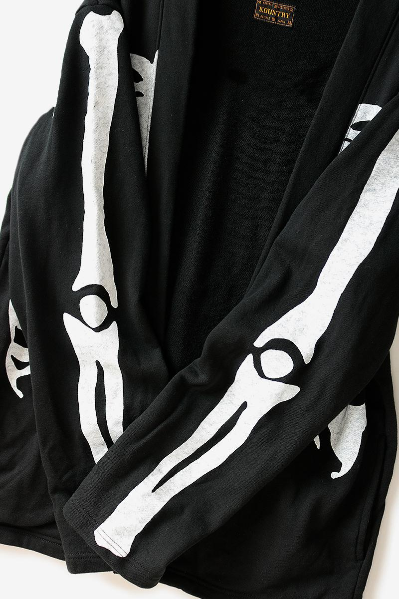 Kapital Eco Fleece Kakashi Bone Shirt Release Info Japanese fashion americana skeleton print drop date price kapital.co.jp