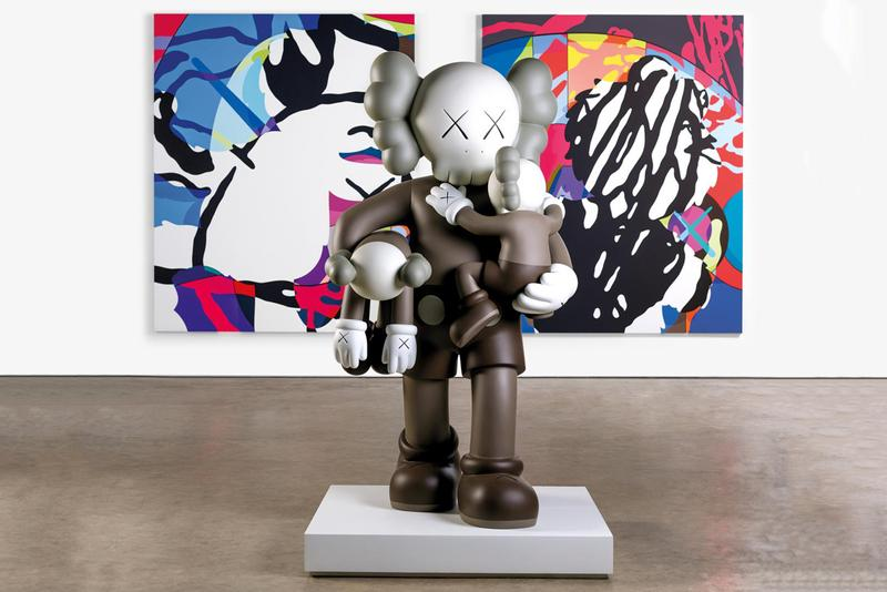 kaws companionship in the age of loneliness national gallery of victoria melbourne australia playtime children presentation companion sculptures artworks installations paintings