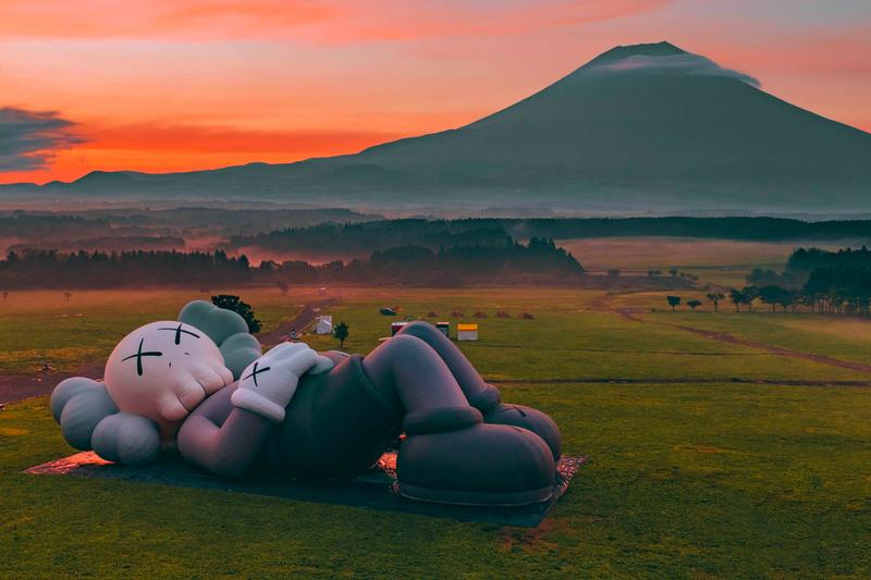 KAWS:HOLIDAY Mount Fuji Outdoor Exhibition Opening Herschel Supply Camping Allrightsreserved