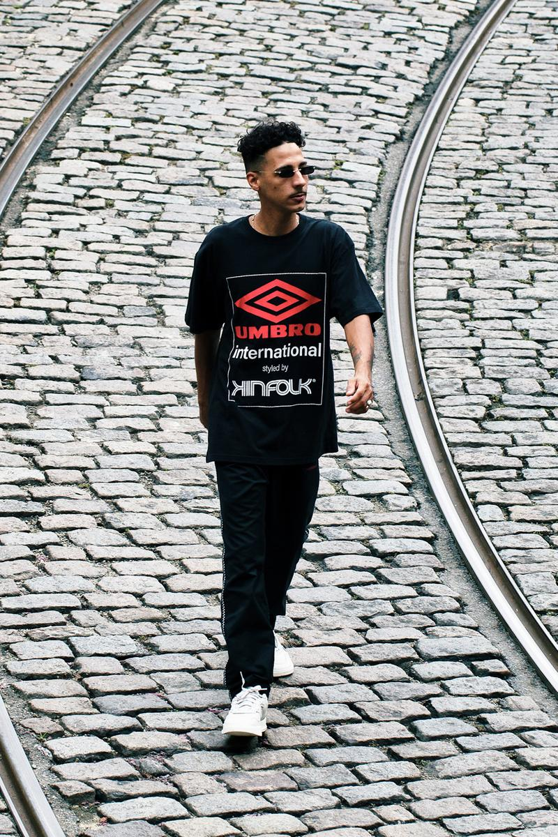 Kinfolk Umbro Capsule Collection summer 2019 release Jackets Shorts Pants Tees Hoodies Black Red White Rio de Janeiro brazil youth ricardo beliel