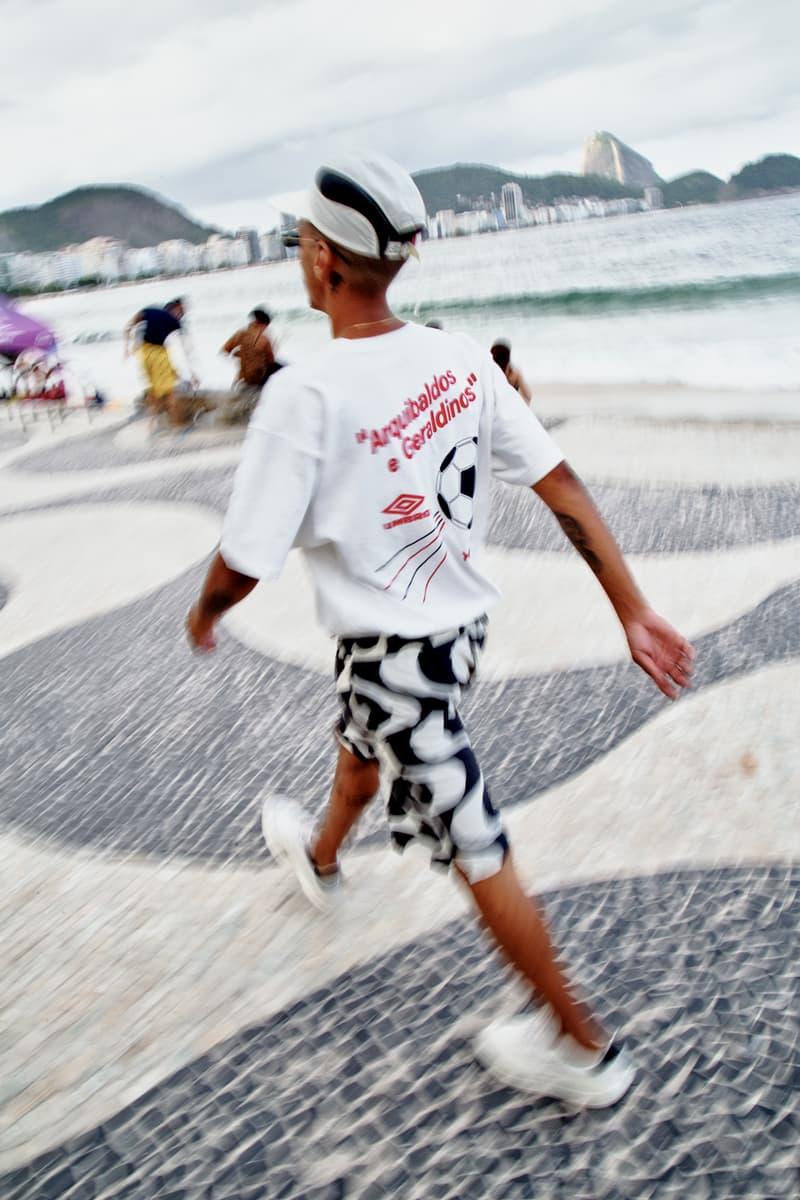 Kinfolk Umbro Capsule Collection summer 2019 release Jackets Shorts Pants Tees Hoodies Black Red White Rio de Janeiro brazil youth ricardo beliel