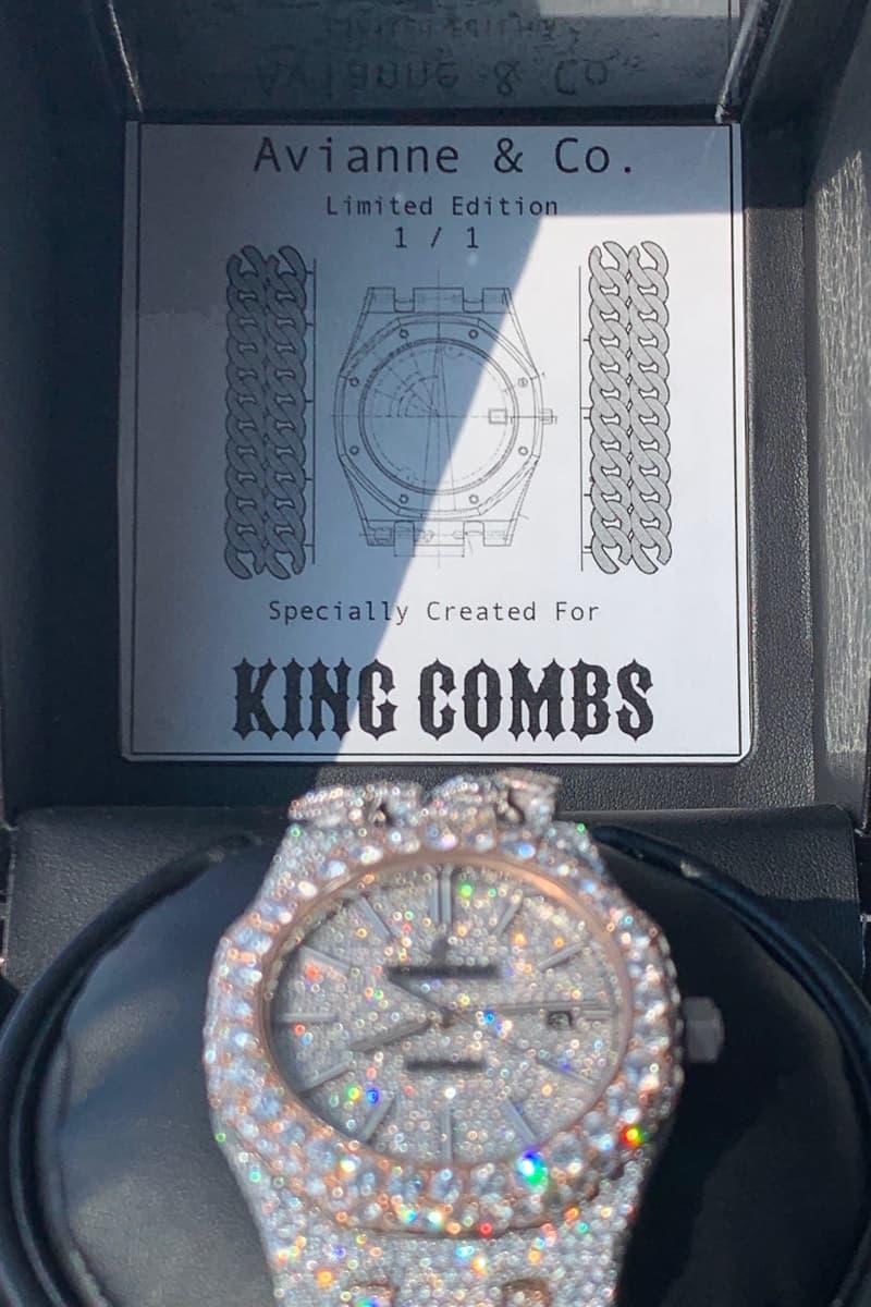 King Combs Avianne & Co. Cuban Link Audemars Piguet Watch Alex Moss Royal Oak