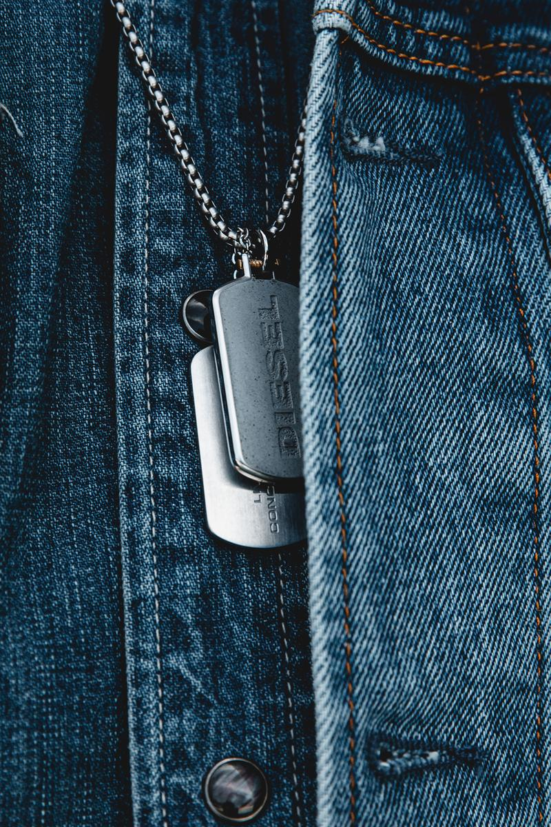 Kirk Knight x Diesel Mega Chief Concrete Watch lookbook grey red blue gradient ombre gun metal chronograph denim jeans koey bada$$