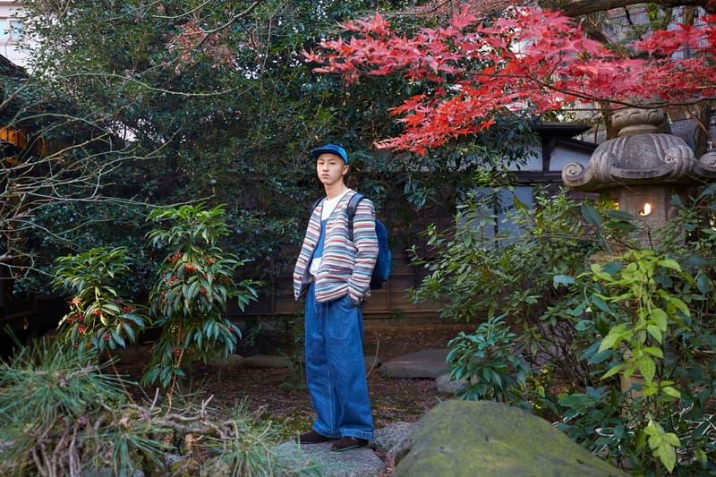 KUON tokyo japan collection fall winter 2019 lookbook denim patchwork sakiori