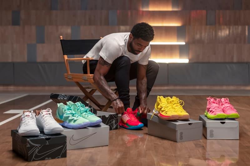 Kyrie Irving Debuts Full 'Spongebob Squarepants' Nike Collaboration