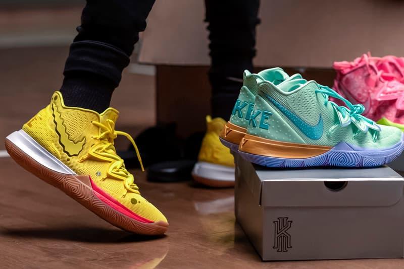 Nike Kyrie Irving 'Spongebob Squarepants' Collaboration sneaker 5 2 low colorways squidward mr krabs patrick star sandy squirrel release date info august 2019 buy