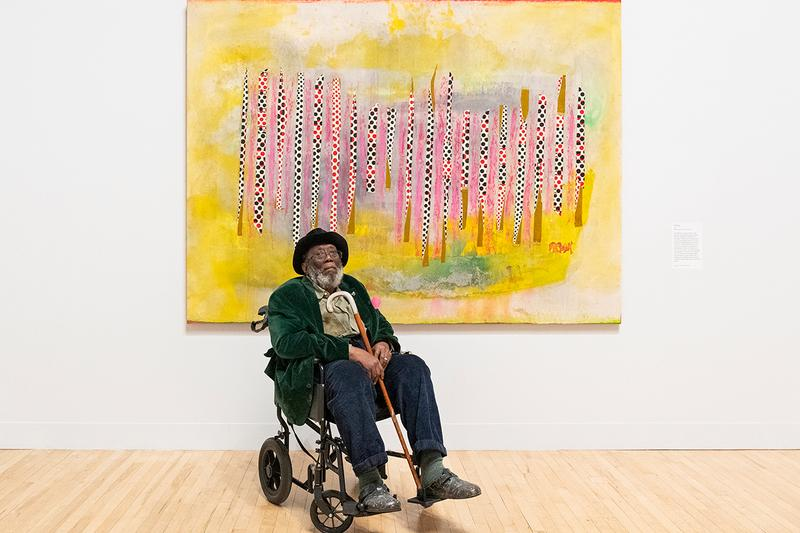 "Late at Tate Britain: ""Passage"" Frank Bowling Augmented Reality Exhibition Eight AR Filters Animated Paintings Displays Smartphones UK London Gallery"