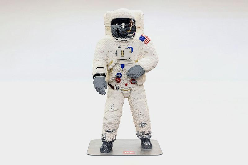 LEGO Builds Life-Size Astronaut to Celebrate Apollo 11 50th anniversary moon landing mission space n.a.s.a. united states of america usa