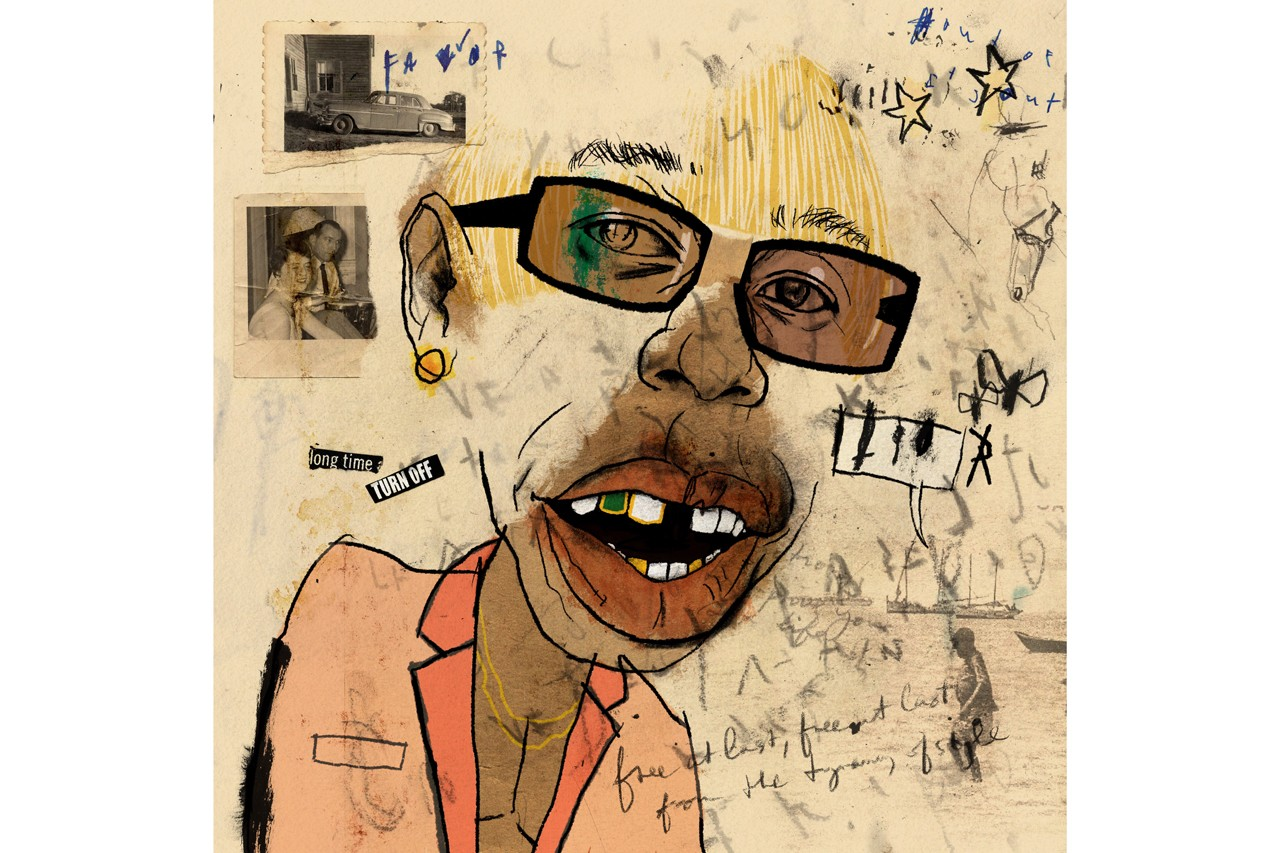 lewis rossignol artist artworks illustrations pen and paper tyler the creator igor sketches mixed media drawings profile