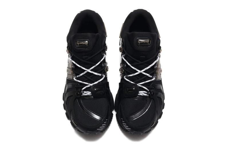 LI NING Furious Rider Ace 15 Black silicone bubbles rubber leather mesh black SS20 paris fashion week runner chinese athletic sportswear brand chunky duo laces