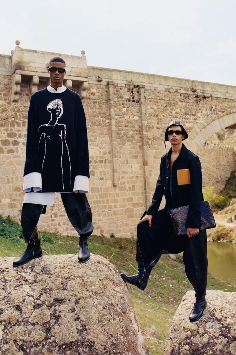 LOEWE Fall/Winter 2019 Collection Lookbook Tyler Mitchell Jonathan Anderson Benjamin Bruno toledo spain Piedra del Rey Moro Museo de Santa Cruz unesco world heritage site deconstruction tailored garments