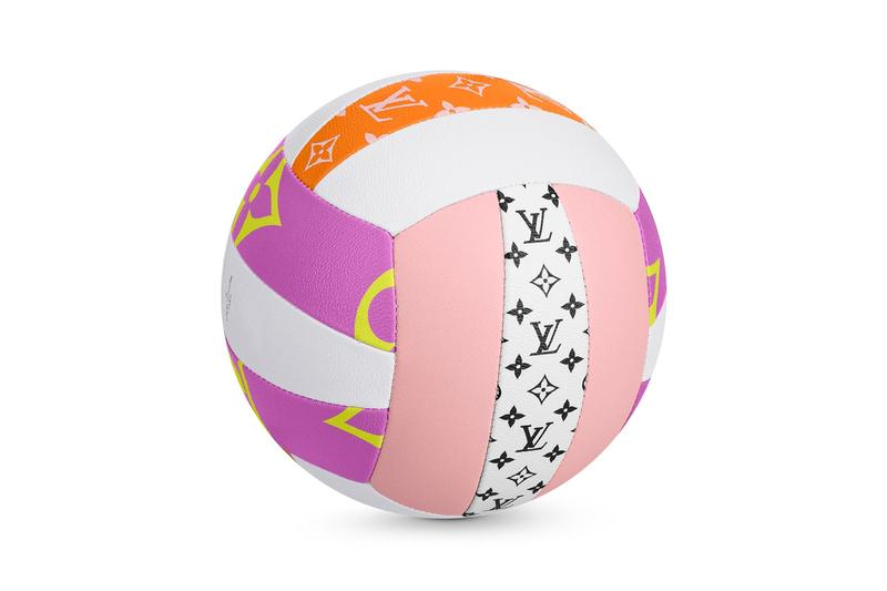 Louis Vuitton Giant Volley Bal Release summer luxury LVMH french paris leather sports balls objects home collectibles