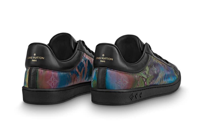 Louis Vuitton Iridescent Luxembourg Rivoli Sneaker Release Virgil Abloh LV Monogram