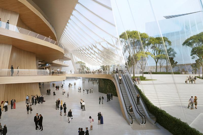 MAD Designs Yiwu Grand Theatre Architectural References Chinese Junk Boat Shape Sails Glass Water Ship Lake Dongyang River China Zhejiang province Theatre Complex theater