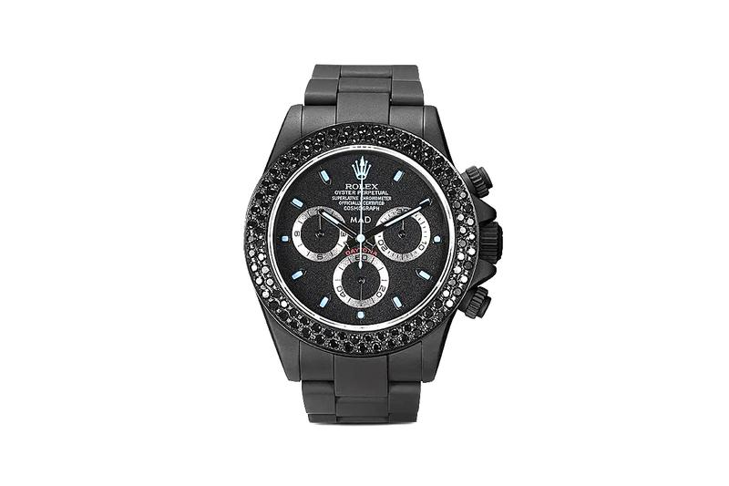 MAD Paris Rolex Daytona Sapphire 40mm Watch Release Information $47049 USD Closer Look Luxury Timepiece Precious Gemstones Oyster Perpetual Chronometer DLC Coating
