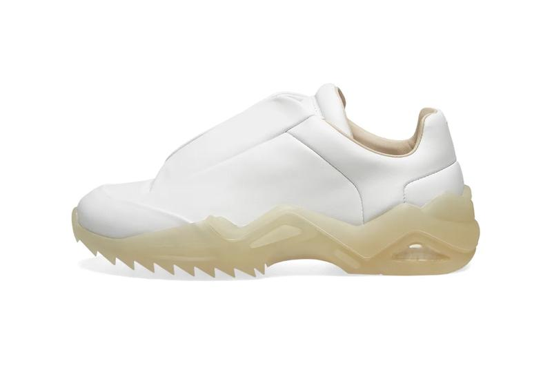 Maison Margiela 22 New Future Low Black White Chunky Sneaker Release Information Cop Online END.Clothing Retro Futuristic Translucent Shark Tooth Sole Unit Calfskin Leather Numbers Single Stitch Debossed