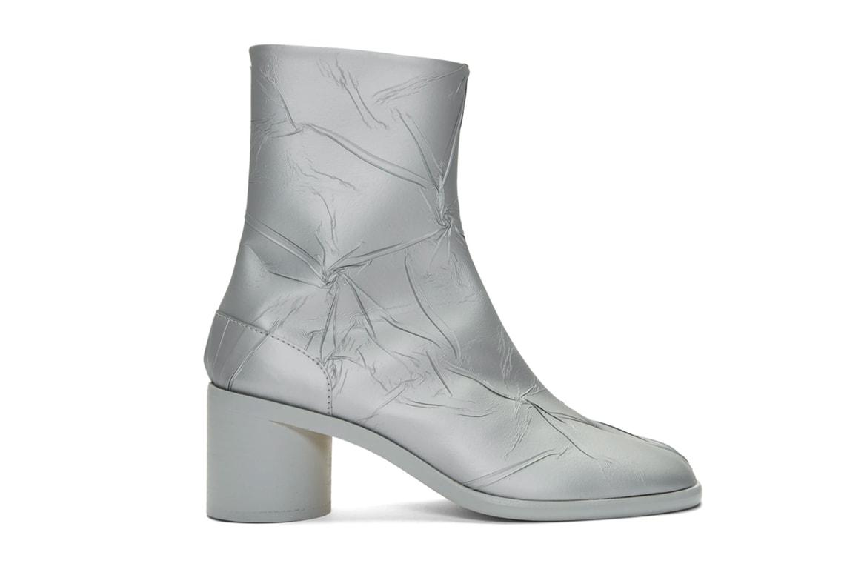 Maison Margiela Silver Metallic Tabi Boots Release Hypebeast