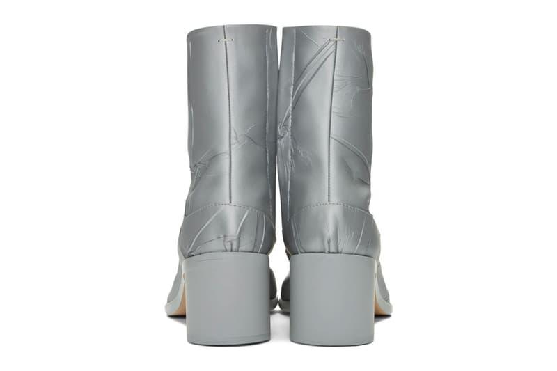 Maison Margiela Silver Metallic Tabi Boots Duct Tape Release info Buy