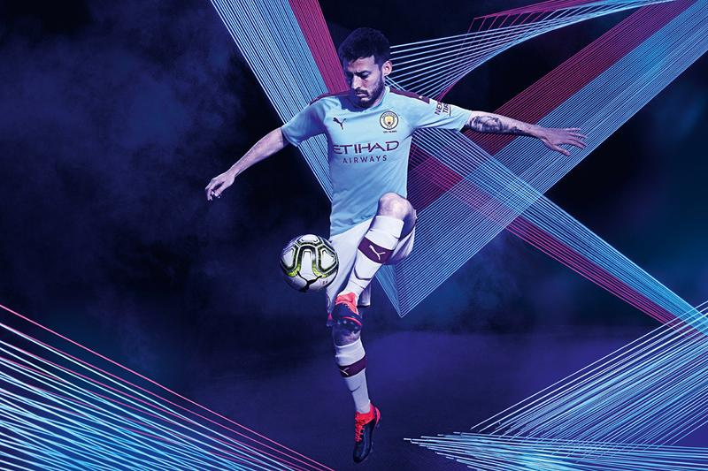 puma manchester city away jersey home kit hacienda industrial revolution bugzy malone pep guardiola football soccer record breaking deal details first look release information