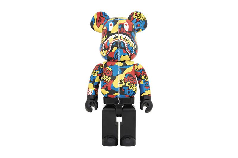 Medicom Toy BEARBRICK Camo Shark 100 400 1000 figure exhibition 2019 Tokyo Omotesando hills space o exhibition pre sale bape zip up hoodie teeth mouth eyes streetwear