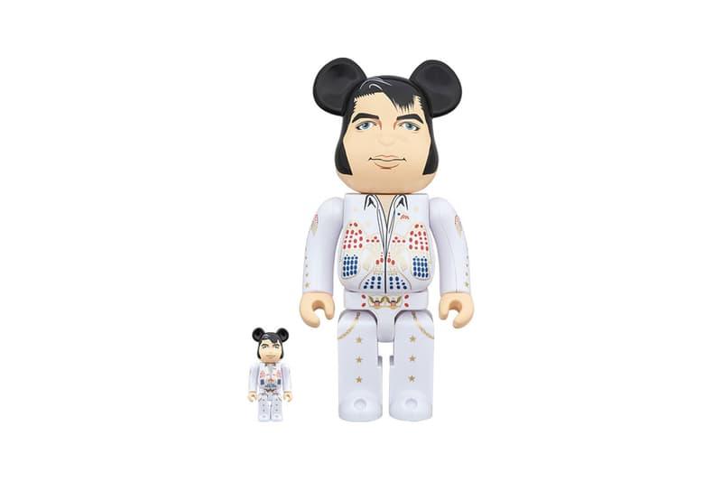 Medicom Toy BEARBRICK Elvis Presley 100 400 King of rock n roll american Japanese toy makers figures pompadour eyelet suit jumpsuit
